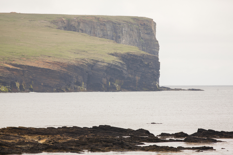 Goboony blog orkney islands wheems cliff sea