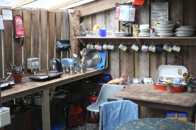 Goboony blog Orkney islands wheems campsite kitchen