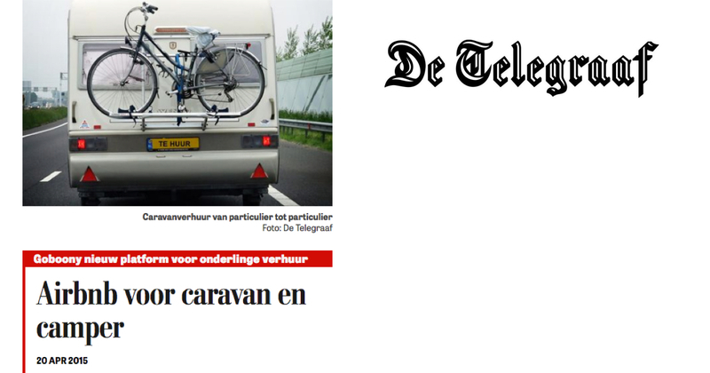 Goboony in de media Telegraaf AirBnb camper