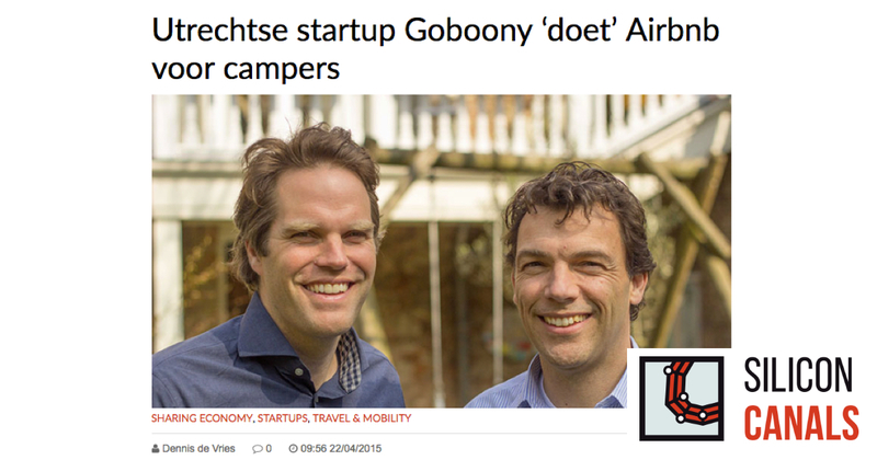 Goboony in media SiliconCanals startup AirBnb campers