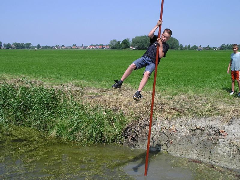 The popular, local, sport called Fierlieppen.