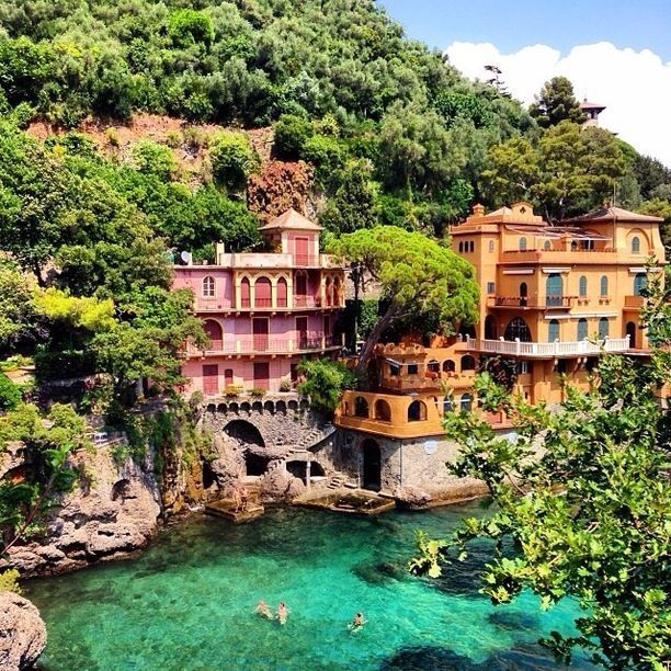Goboony Portofino colours villas beautiful port lagoon