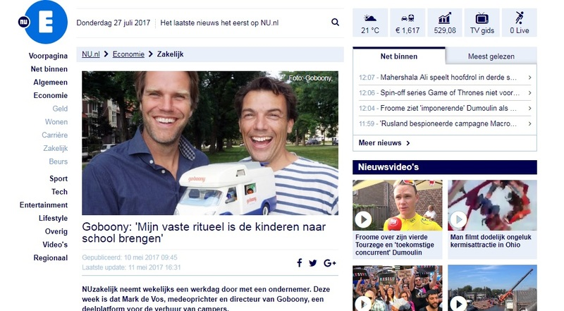 Goboony in de media nu.nl