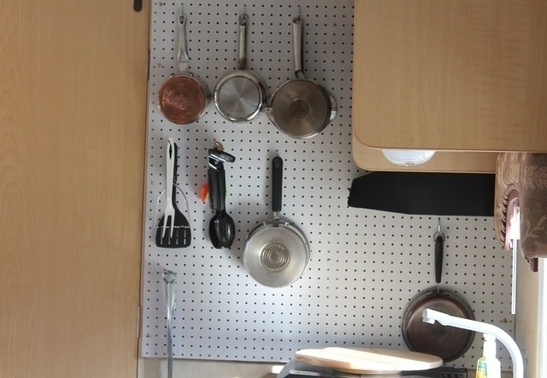 goboony motorhomes blogs organising space peg board utensils