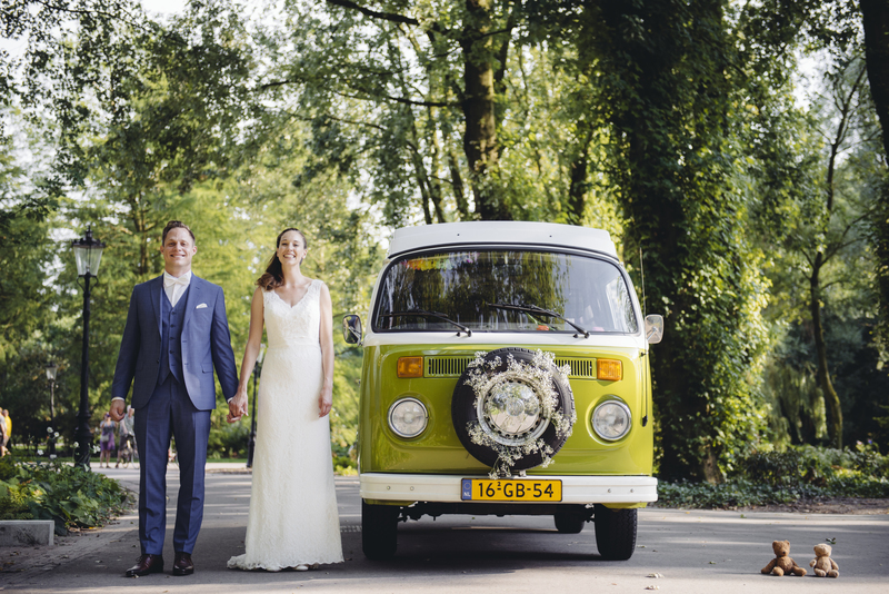 Goboony honeymoon campervan vw green forest wedding