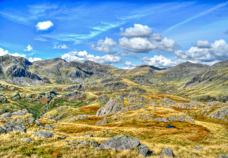 Goboony lake district hiking routes Scafell Pike