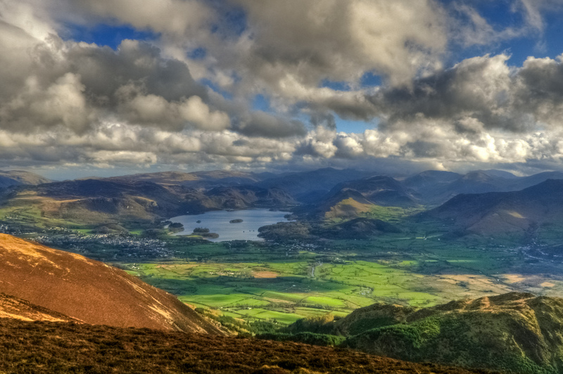 Goboony Lake district hiking routes Derwent water