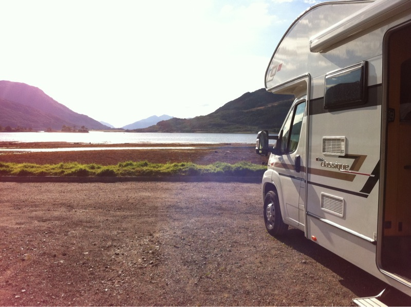 Goboony Visit Oban Campsites highlands motorhome shore