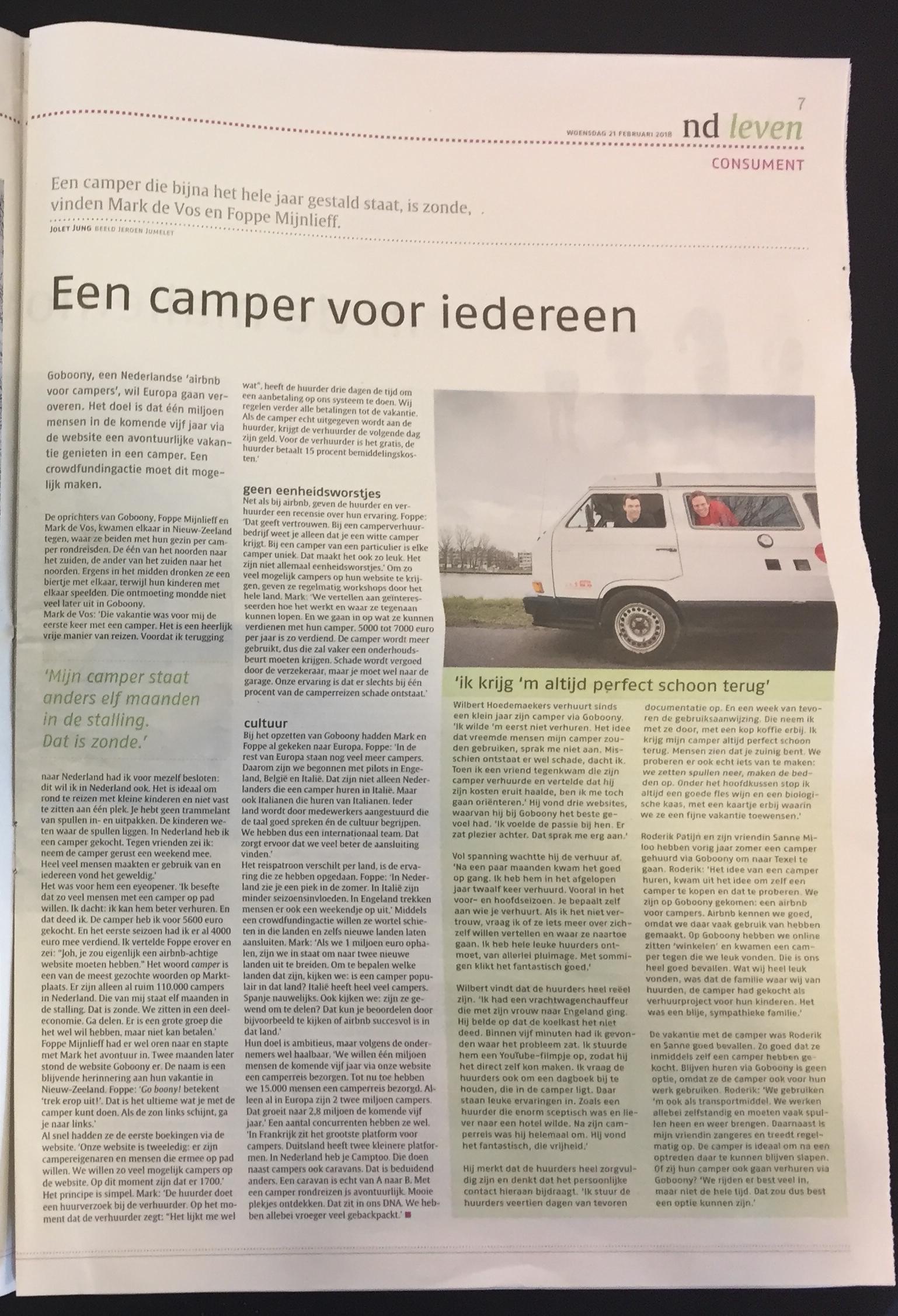 Camper-voor-iedereen-Goboony-Nederlands-Dagblad-crowdfunding