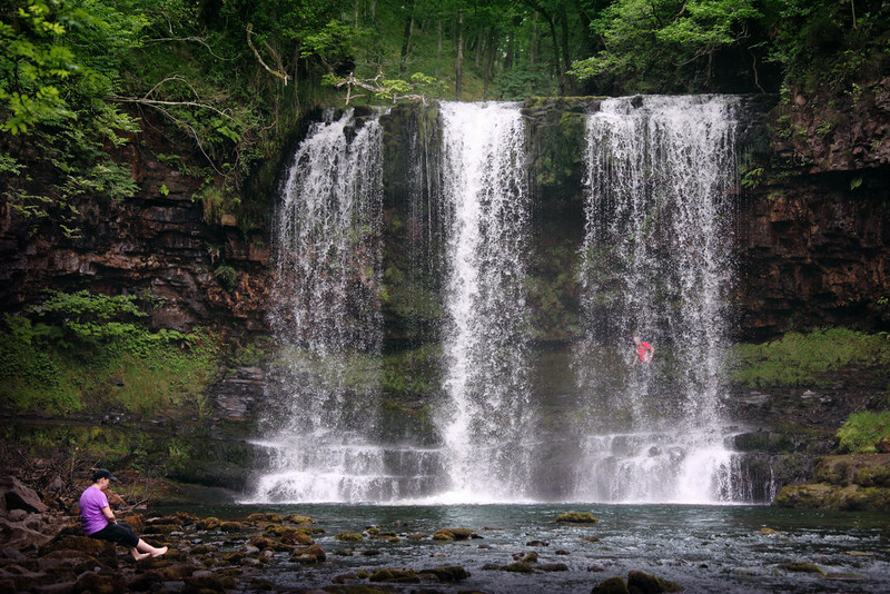 Goboony visit wales Brecon beacons lady waterfall