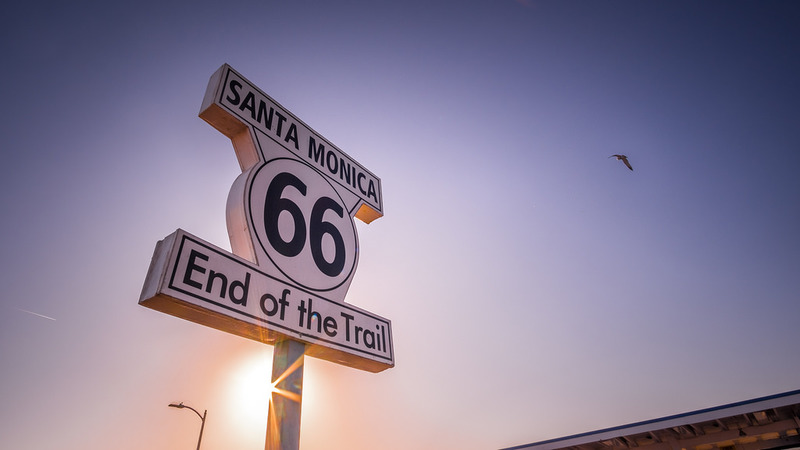 goboony road trip playlist route 66 Santa Monica