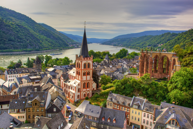 Goboony Road trip Europe Bacharach skyline