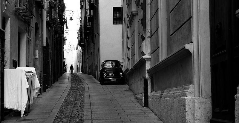 Goboony Visit Sardinia camper Cagliari streets fiat