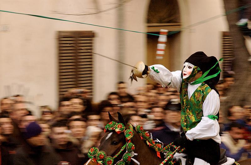Goboony visit Sardinia Cavalcade masked rider Cagliari