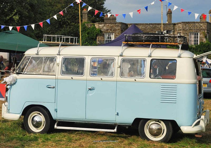 Goboony festival motorhome hire camper van blue