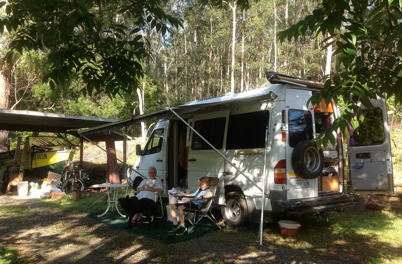 goboony budget camping motorhome woods awning family