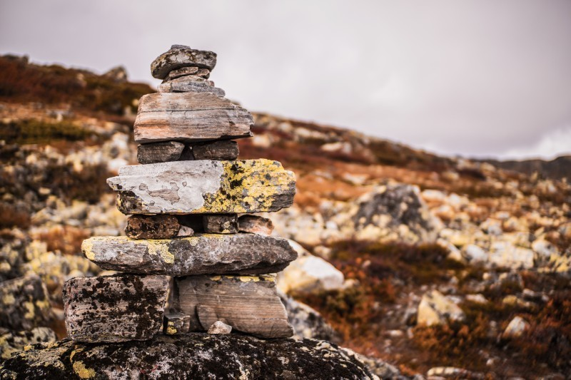 Goboony wild camping norway hillside nature cairn