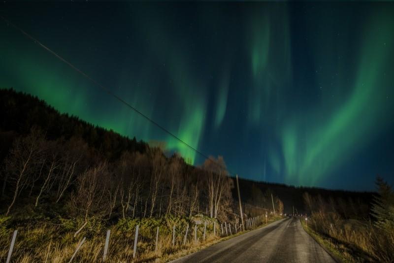 Goboony camping norway aurora borealis lofoten night
