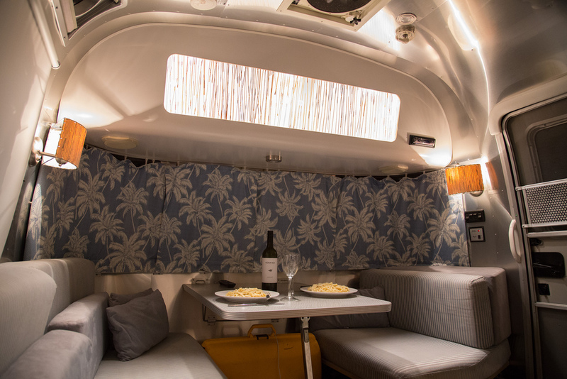 Goboony Glamping in a motorhome campervan interior