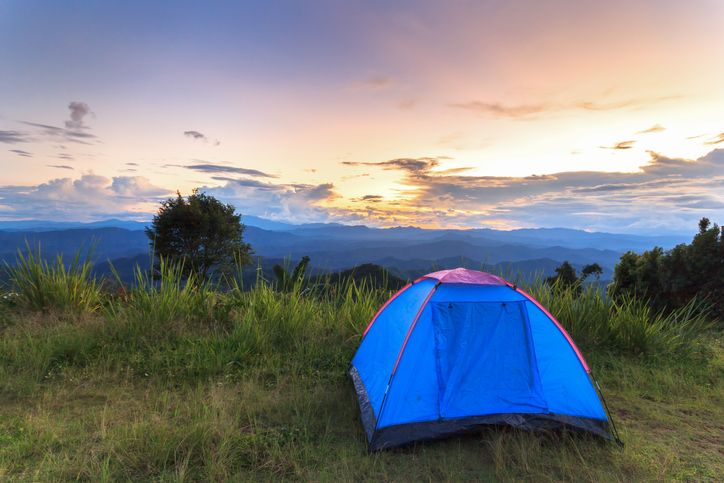 Goboony camping H2 camping tent sunset