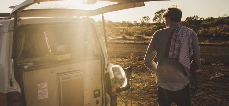 Goboony Campervan Packing Campervan Man
