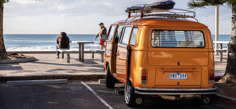 Goboony Campervan Orange Campervan Beach