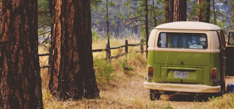 Goboony Wild Camping H2 Green Campervan Forest