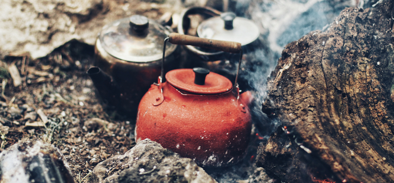 Goboony Wild Camping H2 Red Kettle Cooking Nature