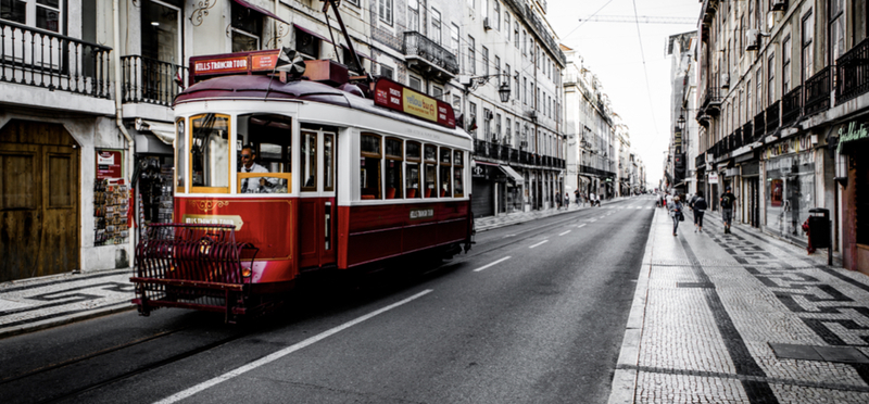 Goboony Lisbon Portugal H2 City Tram Red