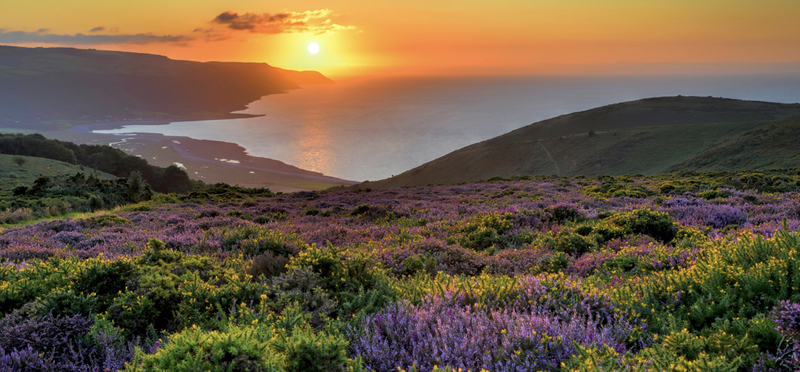 Sunset over Exmoor