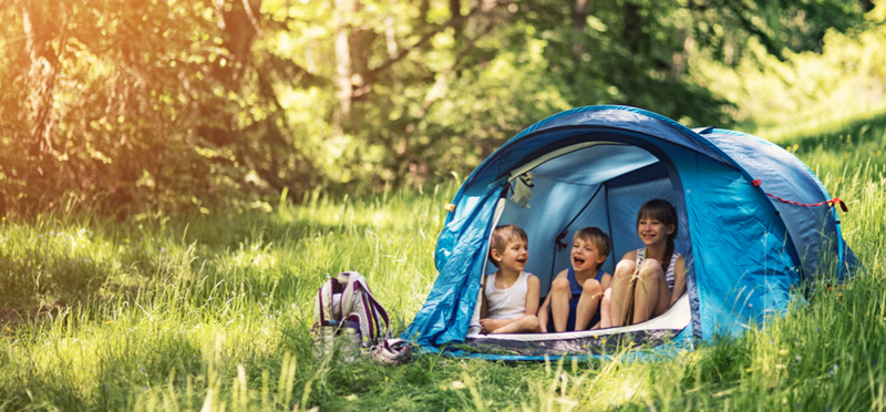 Goboony Camping Children H2 Campervan Tent Blue