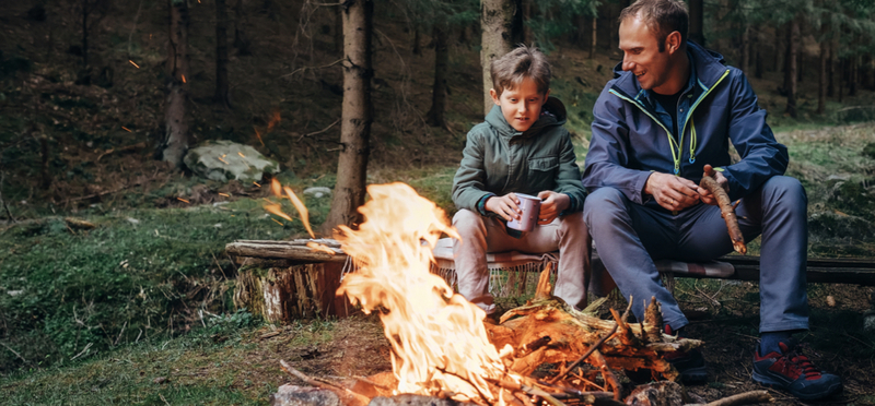 Goboony Camping Children H2 Campervan Father Son Campfire