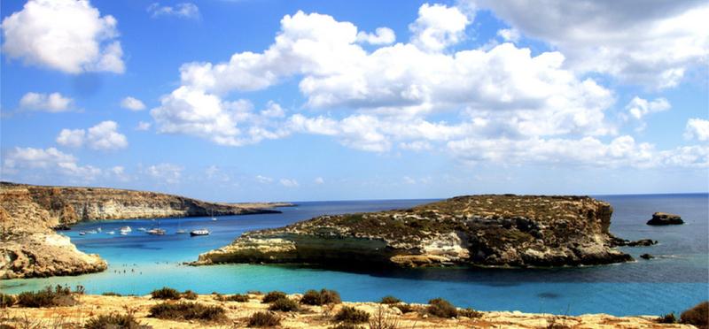Goboony Beach H2 Sea Lampedusa Italy Isola dei Conigli
