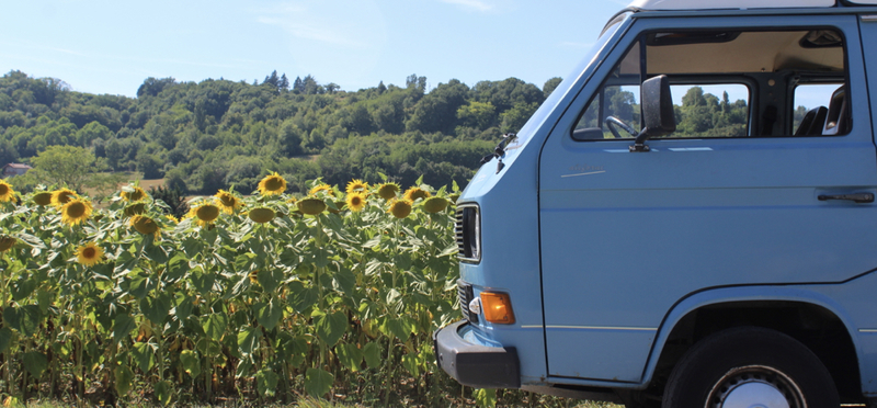 Goboony Road Trip France H2 Campervan Sunflower