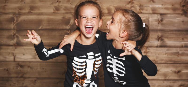 Goboony Half Term Wales H2 Halloween Girls Skeletons