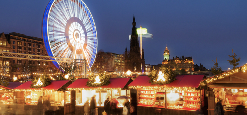 Goboony Scotland Christmas Markets Ferris Wheel Night