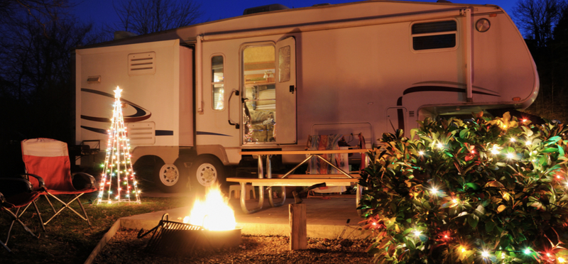 Goboony Christmas Camping H2 Motorhome Campfire Festive