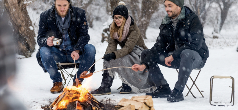 Goboony Winter Camping H2 People Camping Snow Cold Friends