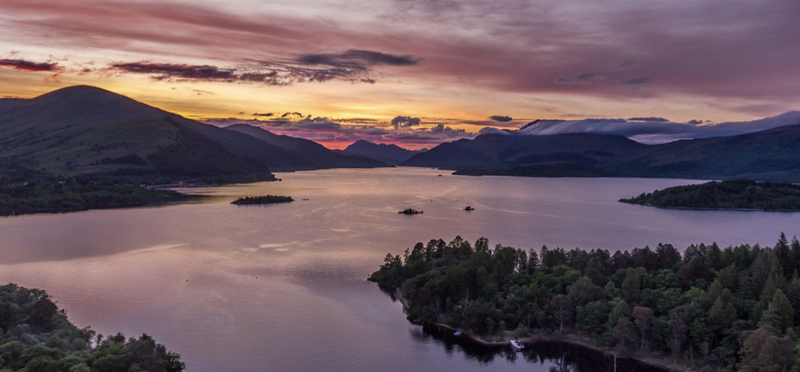 Goboony Scotland Loch H2 Lake Mountains Forest
