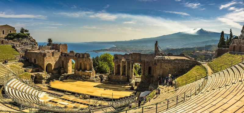 Road Trip in Sicily H2 Roman Greek Theater Sea Volcano Beautiful Goboony