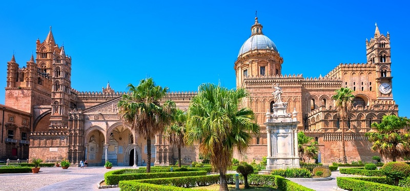 Road Trip in Sicily H2 Goboony Beautiful Sky Cathedral Palermo Sun