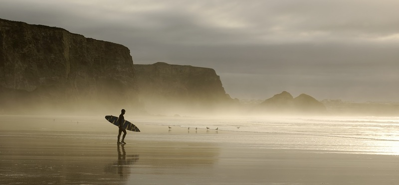Surfing Holidays in Cornwall H2 Goboony Sea Surfers Rocks Nature Beach