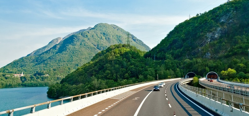 Toll Roads in Austria H2 Goboony Motorway Nature Forest Cars Sun