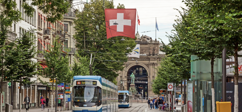 Goboony Switzerland H2 Toll Roads Driving Flag Tram
