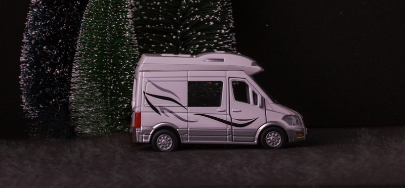 Goboony Small Motorhome H2 White Christmas Winter Van