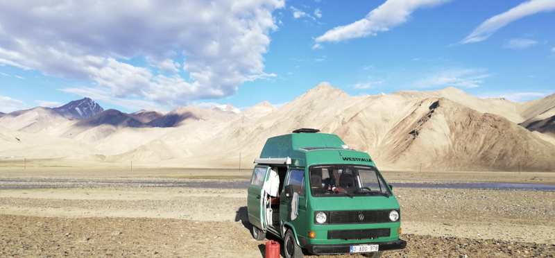 Goboony Central Asia Road Trip Campervan H2 Mountain Sky