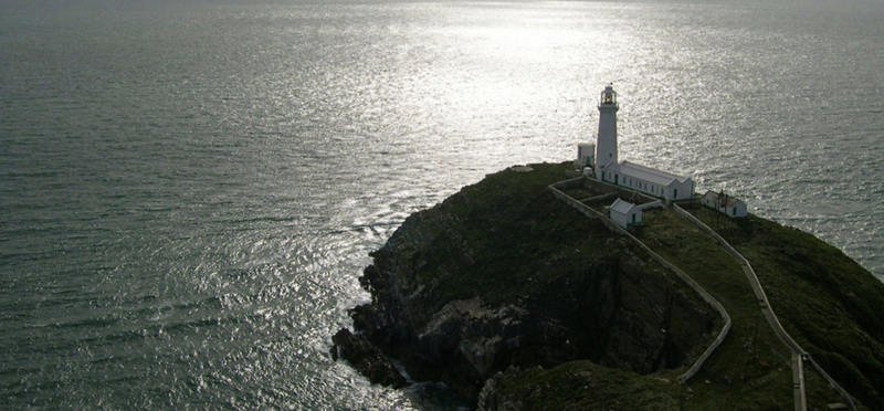 Goboony Anglesey H2 Lighthouse Cliff Sea