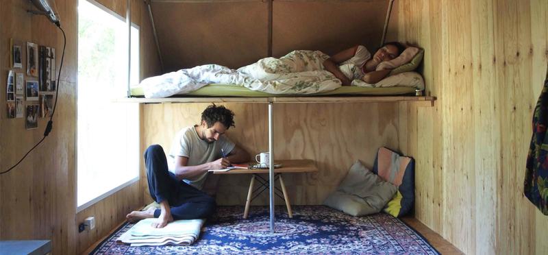 Goboony Van Life H2 Living Campervan Motorhome Interior Man Woman