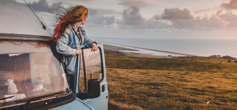 Goboony Living Van Campervan Motorhome H2 Woman Sky Nature