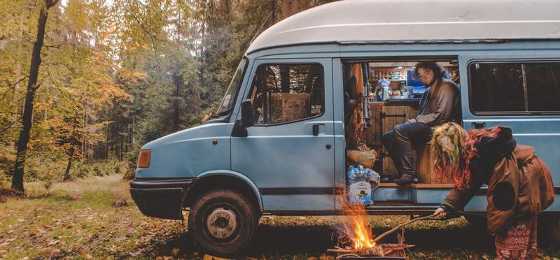 Goboony Living Van Campervan Motorhome H2 Couple Campfire